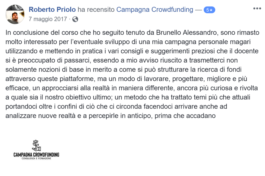 Recensione campagna crowdfunding 5