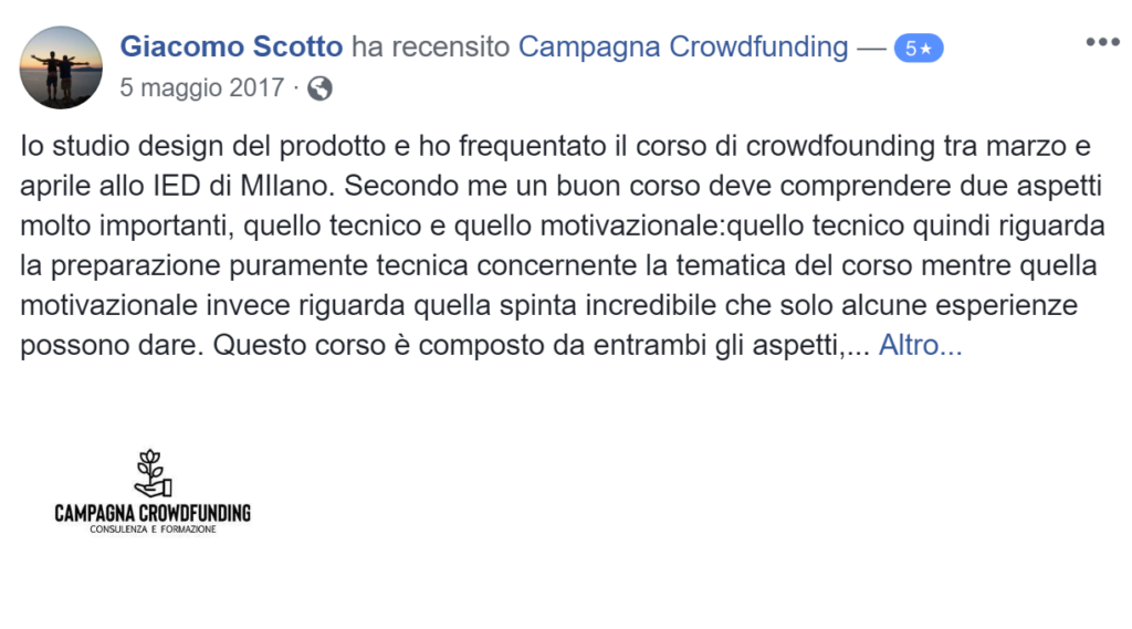 Recensione campagna crowdfunding 4