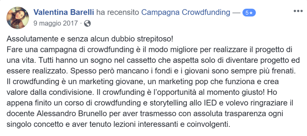 Recensione campagna crowdfunding 3