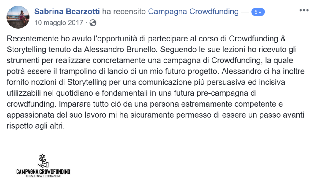 Recensione campagna crowdfunding 2