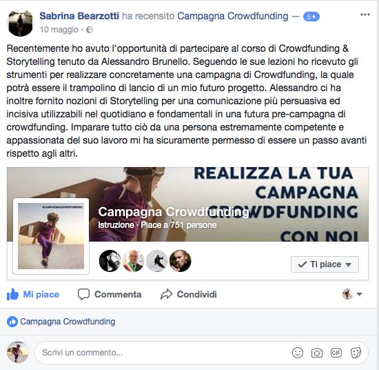 Recensione corso crowdfunding 5